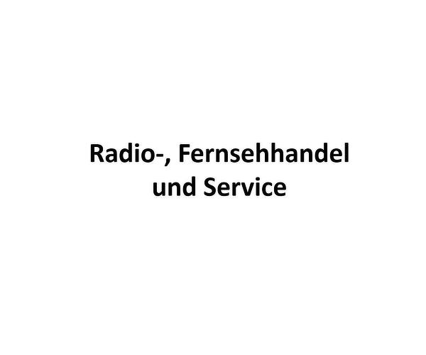 Radio-, Fernsehhandel und Service
