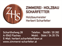 Zimmerei Holzbau Scharfetter