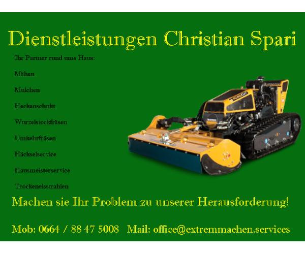 Dienstleistungen Christian Spari