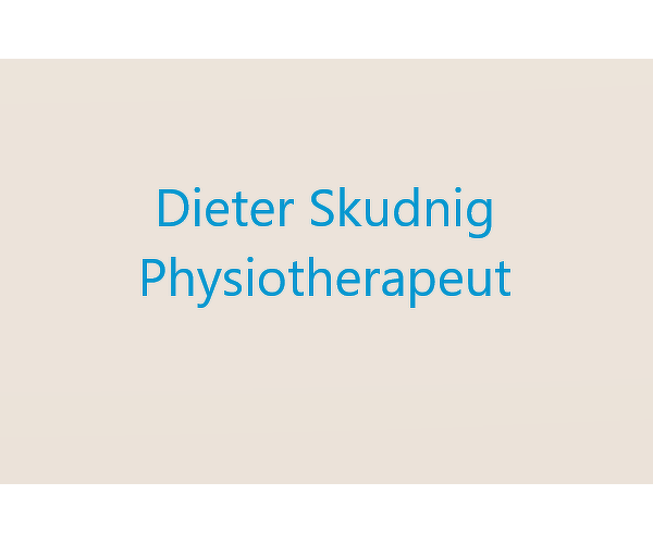 Physiotherapeut Dieter Skudnig