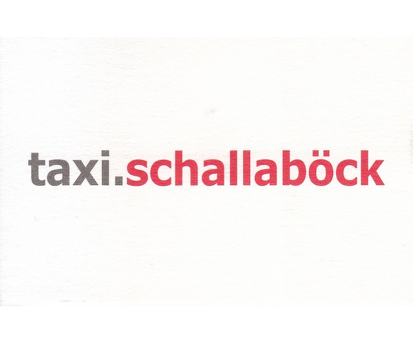 Taxi Schallaböck