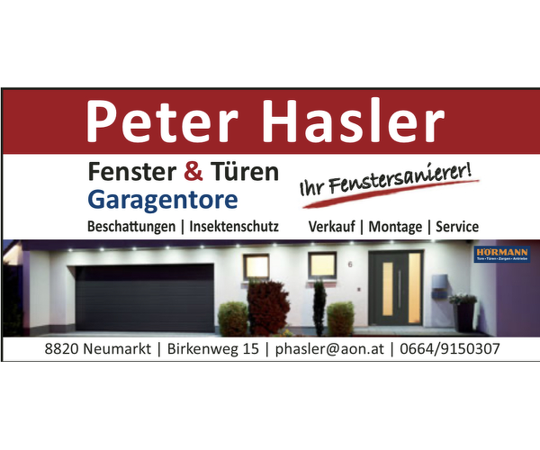 Peter Hasler Fenster&Türen-Garagentore