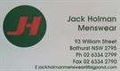 Jack Holman Menswear