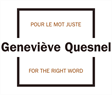 Traduction Geneviève Quesnel