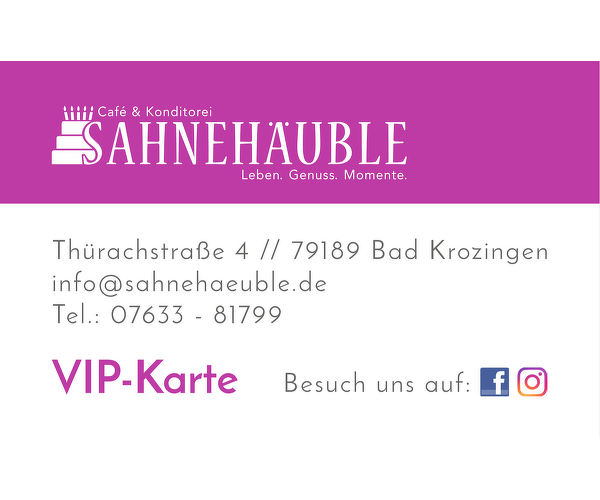 Cafè & Konditorei Sahnehäuble