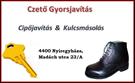 Kulcsmásolás, cipőjavítás, késélezés