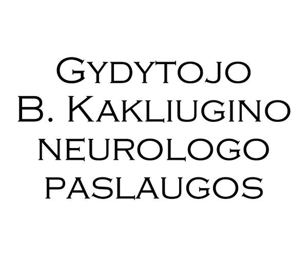 Gydytojo B.Kakliugino neurologo paslaugos