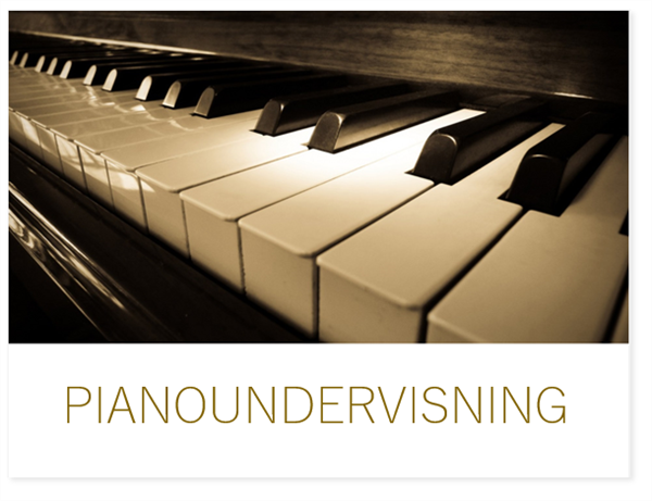 Pianoundervisning