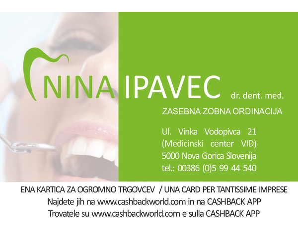 Zobozdravstvena ordinacija - NINA IPAVEC