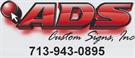ADS Custom Signs Inc